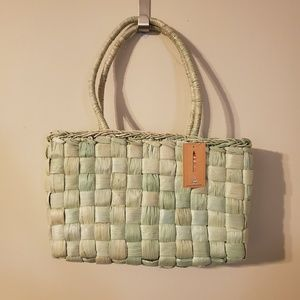 Light Green Straw Purse Handbag Shoulder Bag
